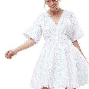 ASOS Mini Eyelet White Dress